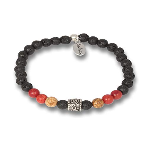 Anisch de la Cara Bracciale da uomo Hakuna Matata Beads Coral Jasper – 6 mm perle