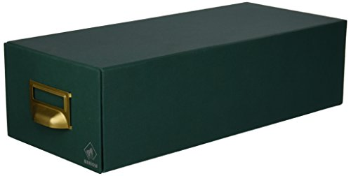 Mariola 2-1000 - Fichero cartón forrado en Geltex para 1000 fichas, Color Verde, dimensiones 155 x 100 x 350 mm