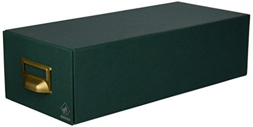 Mariola 2-1000 - Fichero cartón forrado en Geltex para 1000 fichas, Color Verde, dimensiones 155 x 100 x 350 mm 🔥