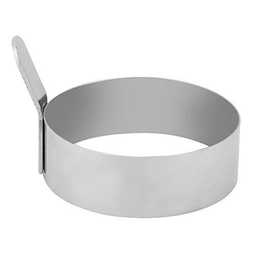 Eiervorm, antiroest bakvorm Eenvoudig schoon te maken Ronde pannenkoek Ring Pannenkoekenmaker, met fijn polijsten voor zelfgemaakte eiersandwiches Keuken(large)
