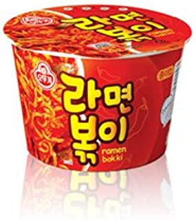 Ottogi Ramen Bokki Cup Noodle 8 Pack of 4.23oz Spicy Ramen Soup and Tteokbokki Flavor