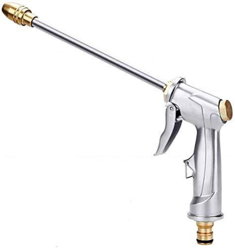 XPMY Pistola de Pulverización de Manguera de Jardín, Pistola de Riego de Metal de alta presión Ajustable, Rociador de mano para el trabajo de jardinería, lavado de autos, trabajo de limpieza