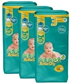 Pañales Nunex Active Dry (Talla 3 (4-10 kg)) (168 ud