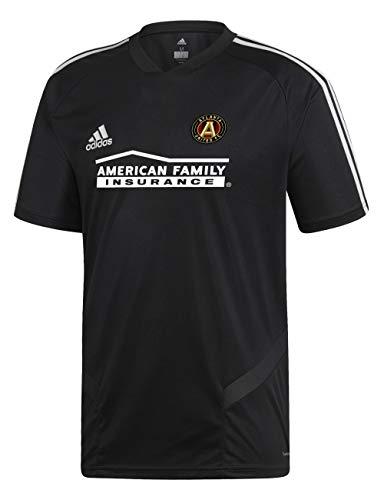 adidas Atlanta United FC Short Sleeve Training Jersey-Black/White-M