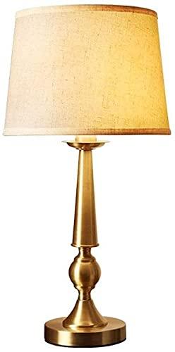 SDHouse Lámpara Escritorio Toda la lámpara de Mesa de Cobre Dormitorio lámpara de Noche Accesorios Moderna Minimalista Sala de Estar decoración lámpara de Mesa Retro 30 cm * 60,5 cm