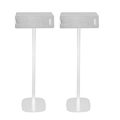 Vebos Soporte de Pie para IKEA Symfonisk Horizontal Blanco Pareja Experiencia óptima en Cada habitación - Le Permite Colocar su IKEA Symfonisk Horizontal exactamente Donde lo desee