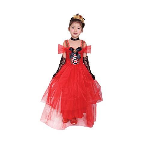 xuejuanshop Halloween Traje del Funcionamiento de la Falda de la Mascarada de Ropa Blancanieves Cenicienta de Halloween de los niños Cosplay de Fiesta (Color : C, Size : L)