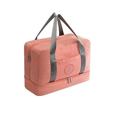 Oksale Gym Bag Duffel Bag for Women, Travel Weekender Sports Workout Duffel Swim Gym Bag with Dry Wet Pocket (Pink)