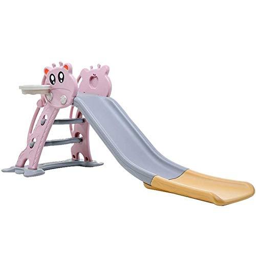 Adesign La diapositiva del niño del bebé niños de los juguetes for niños, plegable for facilitar su almacenamiento, subida primaria juguete, plástico de seguridad, uso de interior al aire libre Jardín