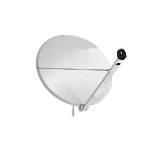 PremiumX Antenne 120cm Alu in Hellgrau SAT Spiegel Schüssel Aluminium NEU