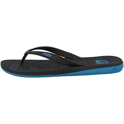 Reef Switchfoot LX, Infradito Uomo, Black/Blue, 45 EU