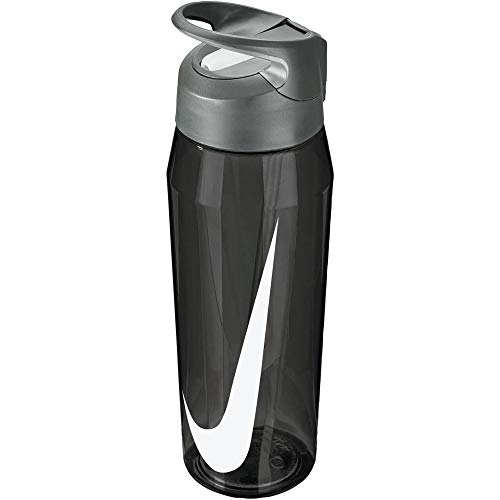 Nike Hypercharge Straw Bottle-Sipper- Black, 709ml