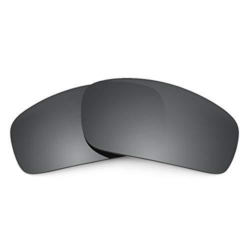 Revant Revant Ersatzgläser Kompatibel mit Oakley Monster Pup, Polarisiert, Schwarz Chrome MirrorShield