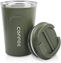 12 oz Stainless Steel Tumbler - Vacuum Insulated Coffee Travel Mug Spill Proof with Lid - Coffee Cup for Keep Hot/Ice Coffee,Tea and Beer