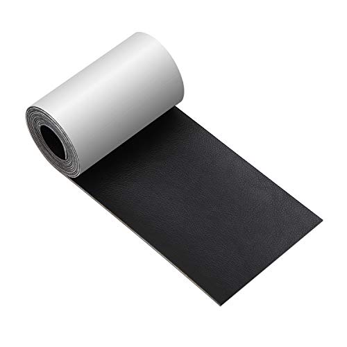 Leather Tape 3X60 Inch Self-Adhesive Leather Repair Patch for Sofas, Couch, Furniture, Drivers Seat(Black)