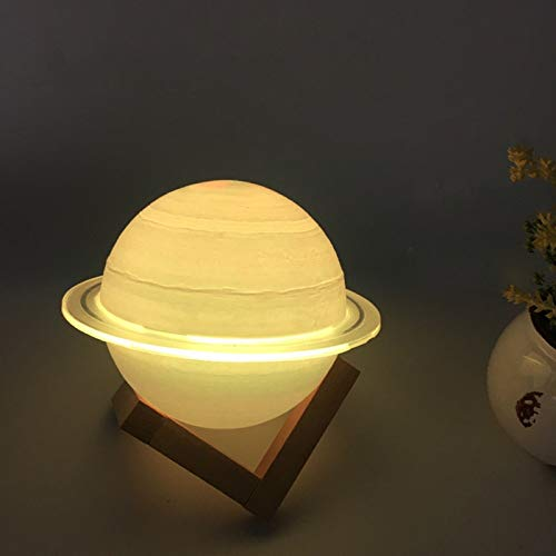 3DDruck Saturnlampe, Touch, Fernbedienung, Timing, 16 Farben und 4 Modi, USB (18 cm) Geschenk, Dekoration