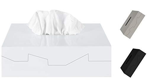 Spirella Kosmetiktücherbox - Box für Kosmetiktücher - Taschentuchbox - Kosmetikbox als Spender oder Halter - Taschentuchspender - Tücherbox ABS 24.8 x 12.8 x 8 cm Weiß