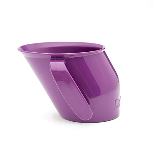 Doidy Cup - Training Sippy Cups for Toddlers & Babies - Unique Slanted Design Two Handles Baby Beaker - Great Weaning Cup for Milk, Water & Juice - Use from 3-6 Months to Toddler (Purple)