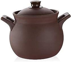 Praktisch Braadpan schotels braadpan schotel met deksel braadpan aardewerk pot keramische hete pot braadpan, ronde aardewe...
