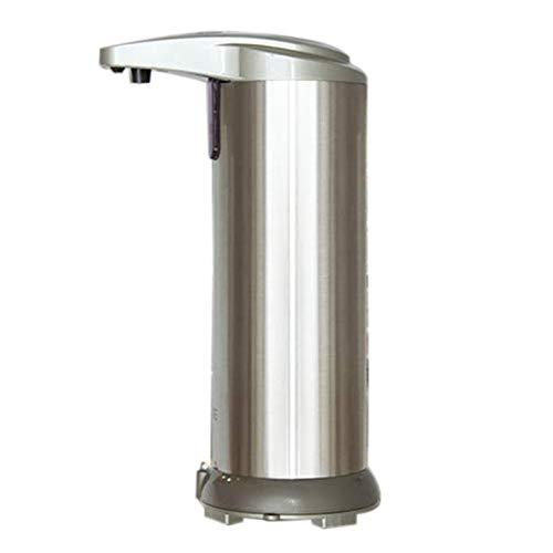 Gesh Dispensador automático de jabón – Dispensador de jabón sin presión con base impermeable, sensor de movimiento infrarrojo plato de acero libre de líquido dispensador de jabón de manos automático