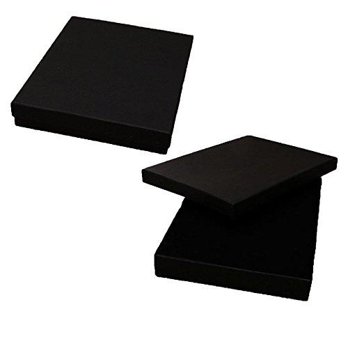 Widdle Gifts Ltd Black 18cm x 14cm Jewellery Gift Box - Necklace Bracelets Pendant Ear Ring Sets
