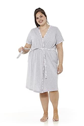 mabel intima Batas de casa mujer verano talla grande Bata manga corta cruzada con cinturón Bata talla 66