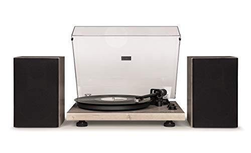 Crosley C62 Vinyl Turntable w/Bluetooth Receiver, Includes Speakers & Built-in Amplifier - Grey