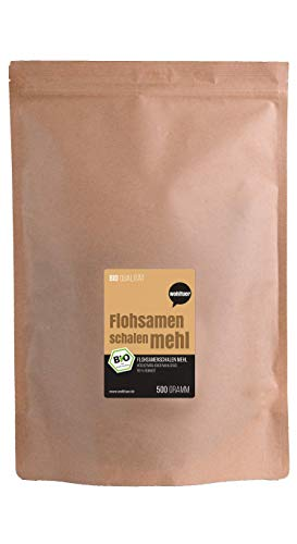 Wohltuer Psyllium Shell Flour Fine Ground 99% Purity 500 g