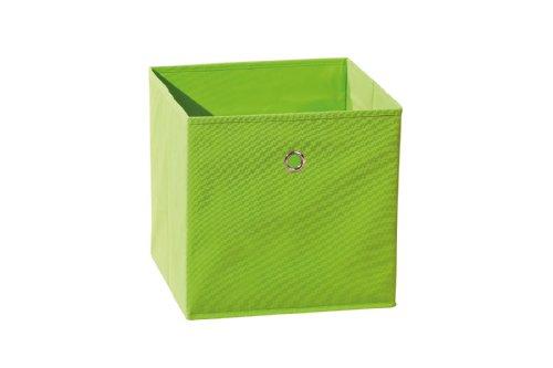 Inter Link Faltkiste Faltbox Faltbare Aufbewahrungsbox mit Metallöse aus Stoff in Grün