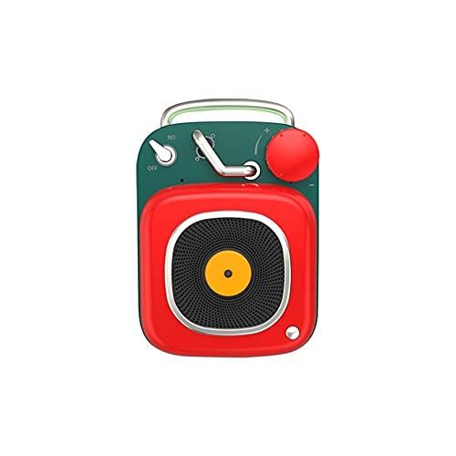 A-myt Cadeaux de Vacances Téléphonographe Atomique de Haut-Parleur Bluetooth rétro Bluetooth Portable Miniskirt Stéréophonie Creative Cadeau Monde de la Musique (Color : Red, Size : A)