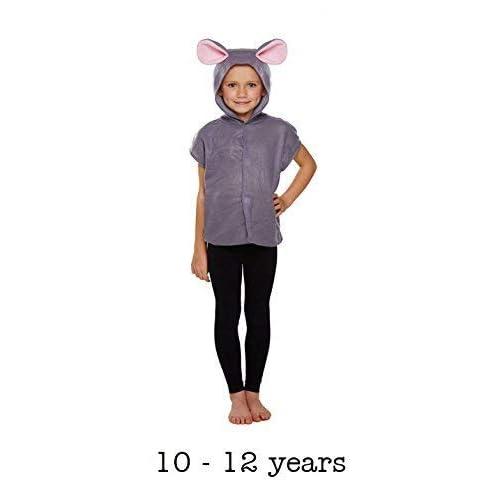 CHILD MOUSE ANIMAL KIDS FANCY DRESS RODENT EARS TAIL NATIVITY 4 piece COSTUME