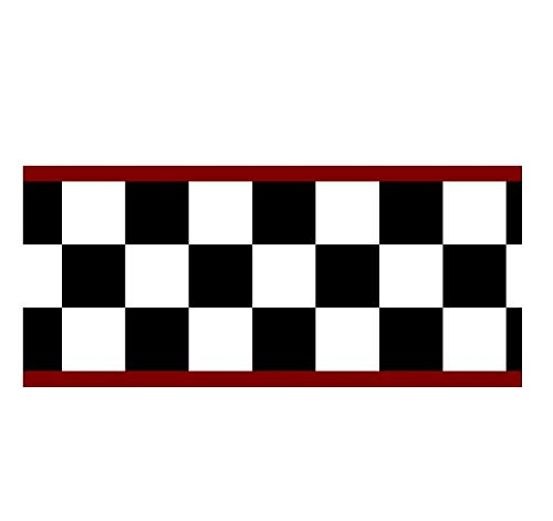 Rolling-Borders CK-004A Checkered Flag 4.5 Inch(Red Edge) Wallpaper Border
