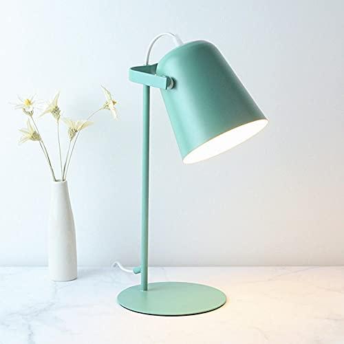 Lámpara de escritorio Moda Protección ocular simple Intensidad de lectura Lámpara de mesa ajustable Sala de estar Dormitorio Decoración para el hogar verde AMARILLO Blanco cálido
