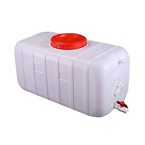 Cubo De Almacenamiento De Agua Grande, con Tapa/Grifo/Mango, Barril Rectangular De Colección De Agua De Lluvia para Acampar, Senderismo, Escalada,150L