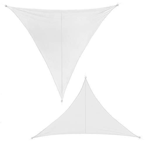 BB Sport Sonnensegel 3m x 3m x 3m Kokos Dreieckig Sonnenschutz 100% PES Sichtschutz Windschutz Tarp UV Schutz Garten Terrasse Camping Schattenspender