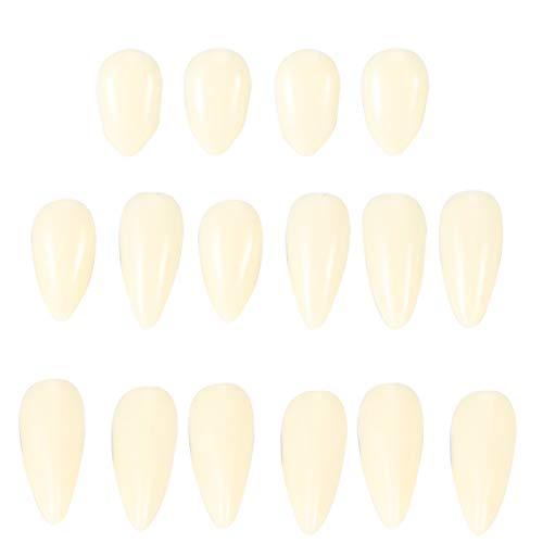 Dentaduras de Halloween; Diente falso de Halloween; colmillos horribles; Dientes falsos de horror, con resina 13 mm de dientes dentores dentaduras de los colmillos para los accesorios de fiesta de