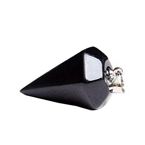 Purmy Mujer Collares Collares Hombre Ágata Negra Cristal Collares Quartz Piedra curativa Chakra Crystals Colgante de Columna Hexagonal,Las Mejores Joyas de Cristal para Hombres de Mujeres