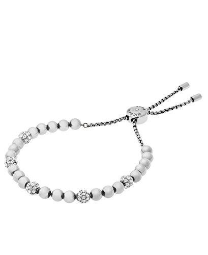 Michael Kors Blush Rush Silver-Tone Bead Bangle Bracelet