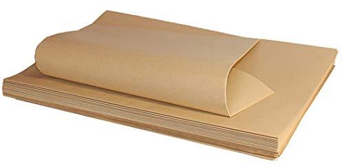 FLORIO CARTA Confezione da 20 Fogli 100x140 cm   Carta Kraft Millerighe Colore Avana da 80 gr Ideale per Imballi, Confezioni Regalo di Natale, Pasqua, Compleanno, Eventi Speciali.
