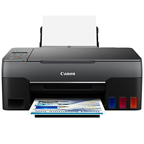 Canon PIXMA MegaTank G Series Wireless All-in-One Color Inkjet Printer for Home Office - Print Copy Scan - 10.8 ipm, 4800 x 1200 dpi, High-Volume Supertank, Borderless Photo Print, WiFi Direct