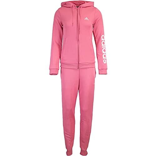 adidas Linear Women Track Suit Trainingsanzug (S, rose/white)