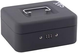 Sax 0–810–19Caisse à monnaie, B 20x H 9x T 16cm, noir