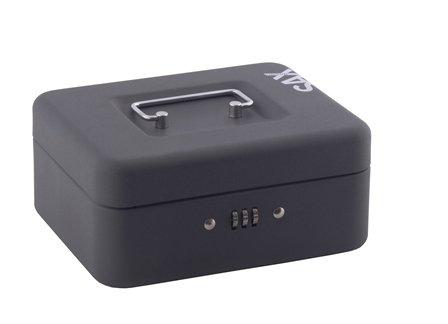 Sax 0-810-19 Geldkassette, B 20 x H 9 x T 16 cm, schwarz…
