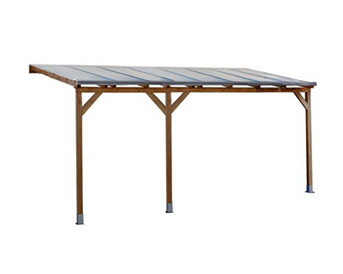 Palram Juniper 3x5 Holz Terrassenüberdachung, braun