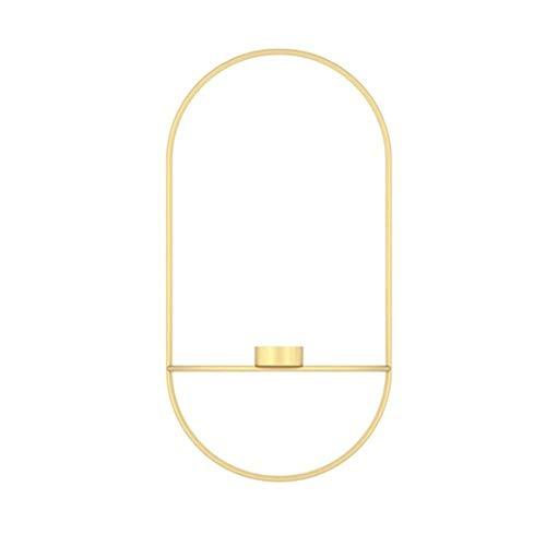 Kandelaar Voor Tafel Scandinavisch Modern Kandelaars Kunstkandelaar Metalen Wandhouder Bloemkandelaars Bruiloftsdecor Geometrisch Theelicht (Kleur: Zwart B)