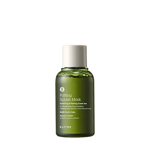 BLITHE Patting Splash Mask Soothing & Healing Green Tea, 2.3 Fl Oz