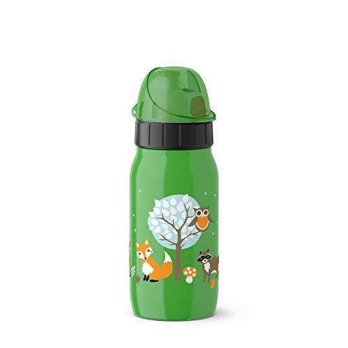 Emsa Iso2Go 518374 Isolierte Trinkflasche, 0,35 Liter, AutoClose Verschluss, Forest Friends