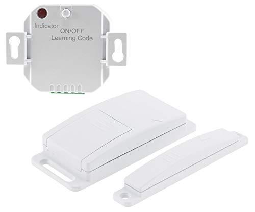 Funk Einbau Abluftsteuerung Magnetkontakt-Schalter mit Funk-Empfänger 230V bis 2000Watt kabellose Funksteuerung für elektronischen Geräte Dunstabzug, Lampen, Leuchten