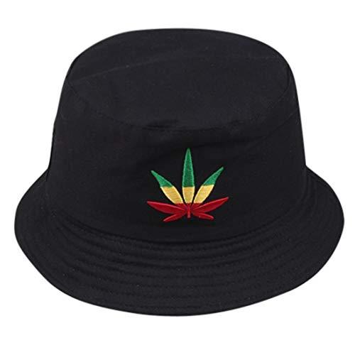 Unisex Men Women Outdoor Print Travel Bonnet Sunscreen Mountain Climbing Hat Visor Cap Fisherman's Hat Sun Cap for Adult (Black, 1 pc)