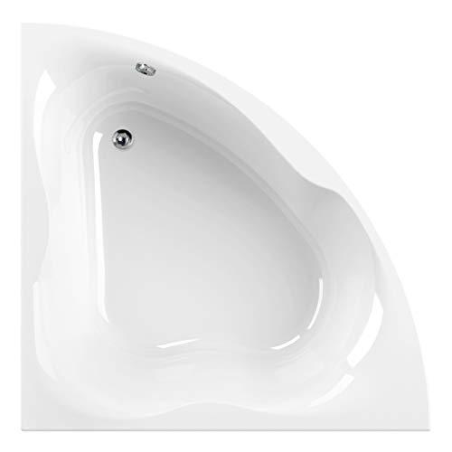 Calmwaters® Eckbadewanne 150x150 cm für Zwei, Acrylwanne Exclusive 2, Duowanne aus Acryl, Maße 150 x 150 cm, Duo-Badewanne als Eck-Badewanne in Weiß, 02SL3336